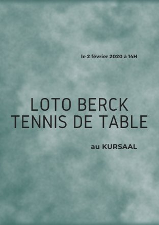Loto du Berck Tennis de Table