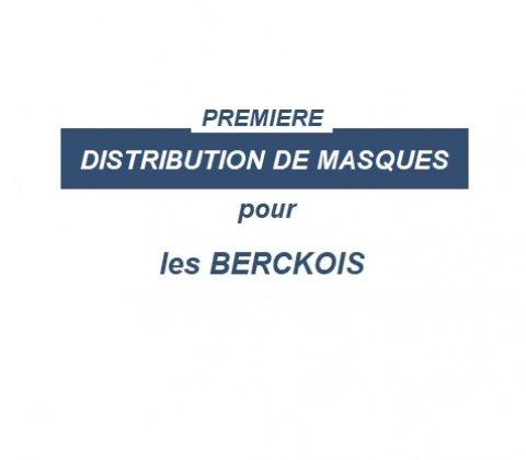 Distribution de masques pour les Berckois