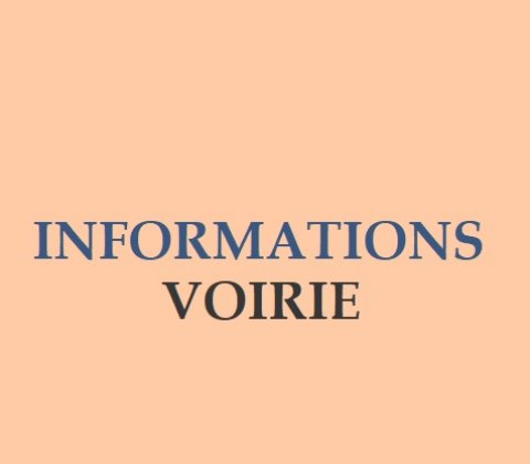 Informations voirie