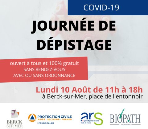 Journée de dépistage COVID-19 à Berck-sur-Mer