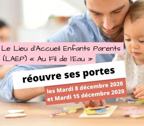 Le Lieu d'Accueil Enfants Parents « Au Fil de l'Eau » réouvre ses portes