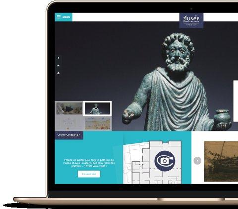 Le tout premier site internet du Musée