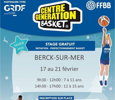 Nouveau : Centre Génération Basket