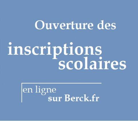 Ouverture des inscriptions scolaires en ligne sur berck.fr
