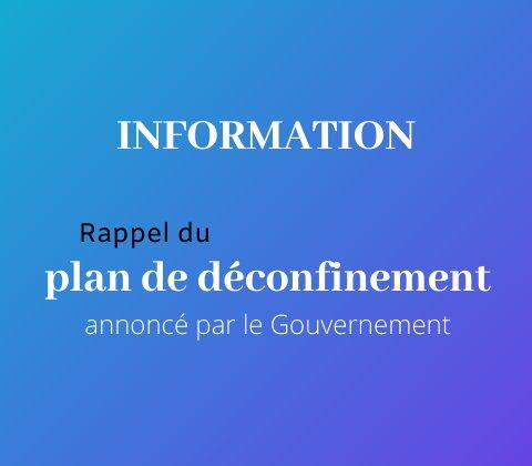 Rappel du plan de déconfinement annoncé par le gouvernement.