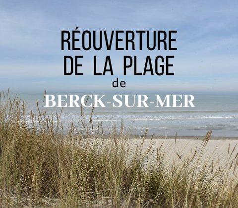 Réouverture de la plage de Berck-sur-Mer, ce samedi 16 mai.