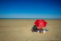Parasol sur la plage de Berck-sur-Mer